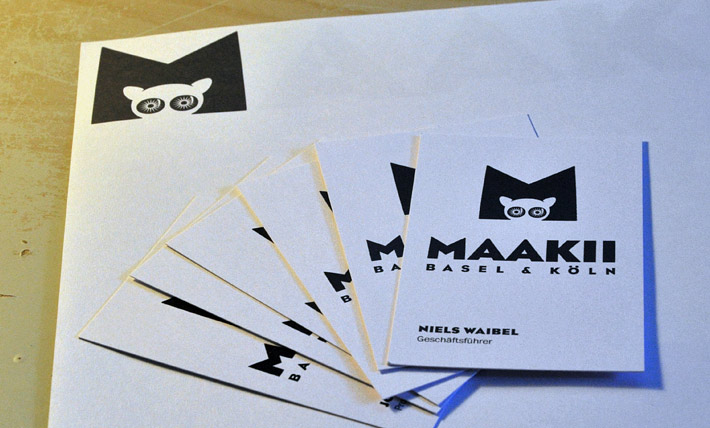 MAAKII letterhead and business cards